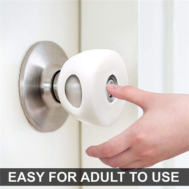 PP Material Door Knob Protector Cover White Color Put On Door Handle For Child Safety