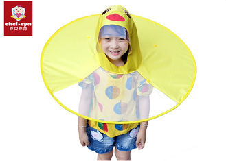 Children's Duck Raincoat Umbrella , Lightweight Rain Poncho Umbrella Eco - Friendly