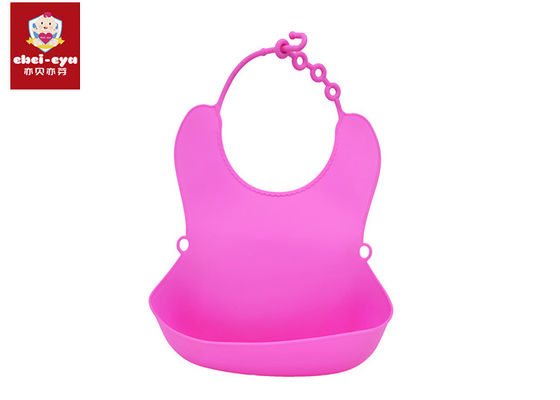 100% Waterproof Toddler Silicone Baby Bibs Food Grade Material TPE Easy To Use