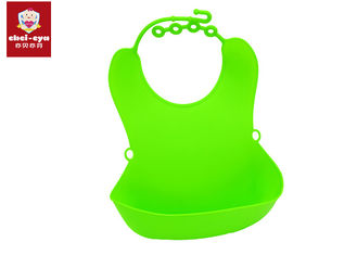 TPE Material Washable Baby Bibs , Kids Easy Clean Bibs Durable Eco - Friendly