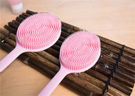 Silicone Material Back Scrubber Bath Body Brush Cleaning Shower Soft Long Handle