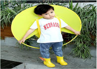 Cute Poncho Childrens Waterproof Raincoats Yellow Duck Single Person PVC/EVA Material