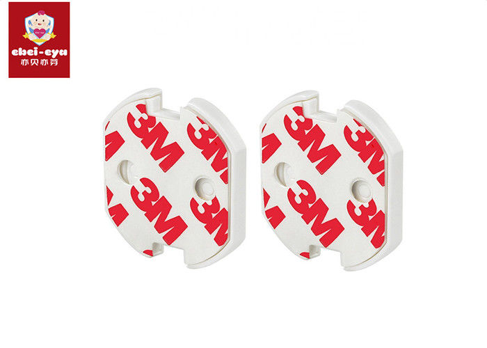 Household EU Type Child Safety Socket Covers , Plastic Outlet Safety Covers