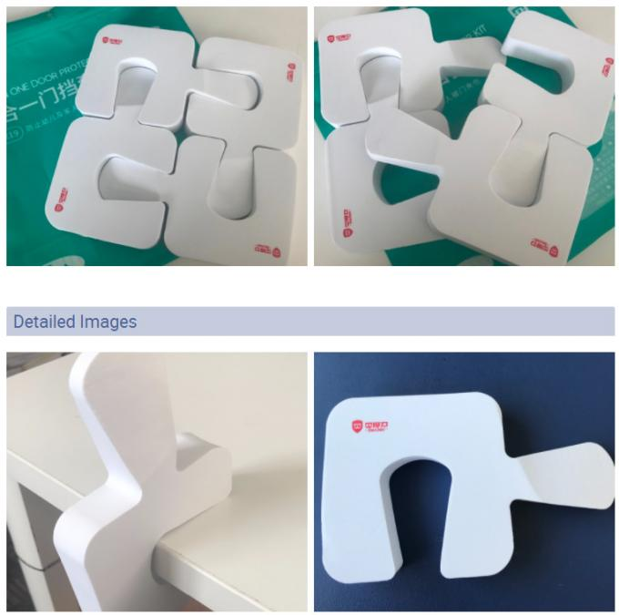 White Baby Door Stopper Kit Four In One Door Protector Safety Products
