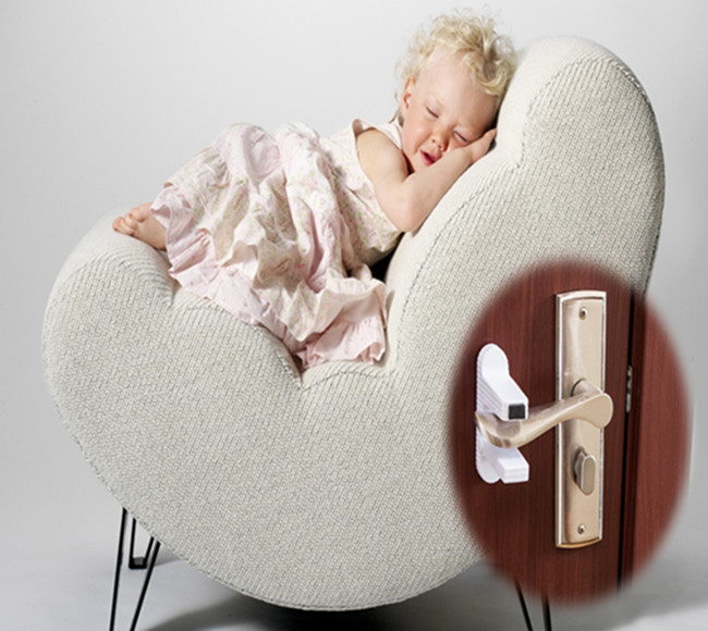 Plastic Baby Security Door Locks Protection Handles Latch Locking Compatible With Standard