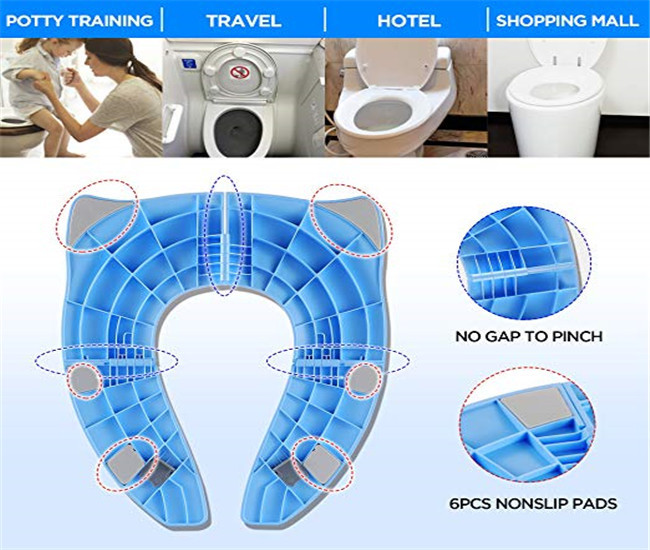 Toddlers Foldable Travel Potty Seat Baby Products ROHS Certification